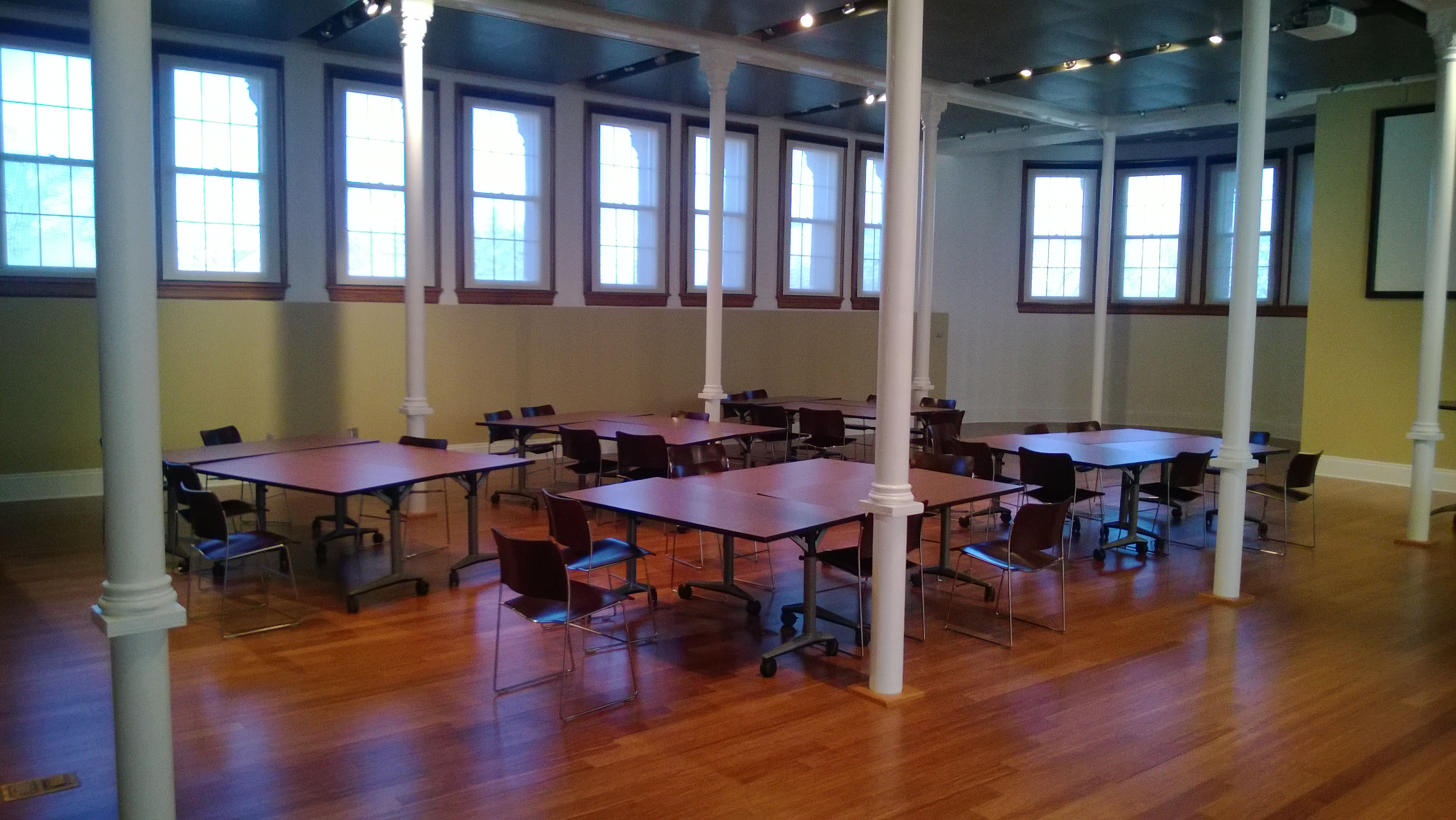 desks and chairs in The Commons at Spooner Hall