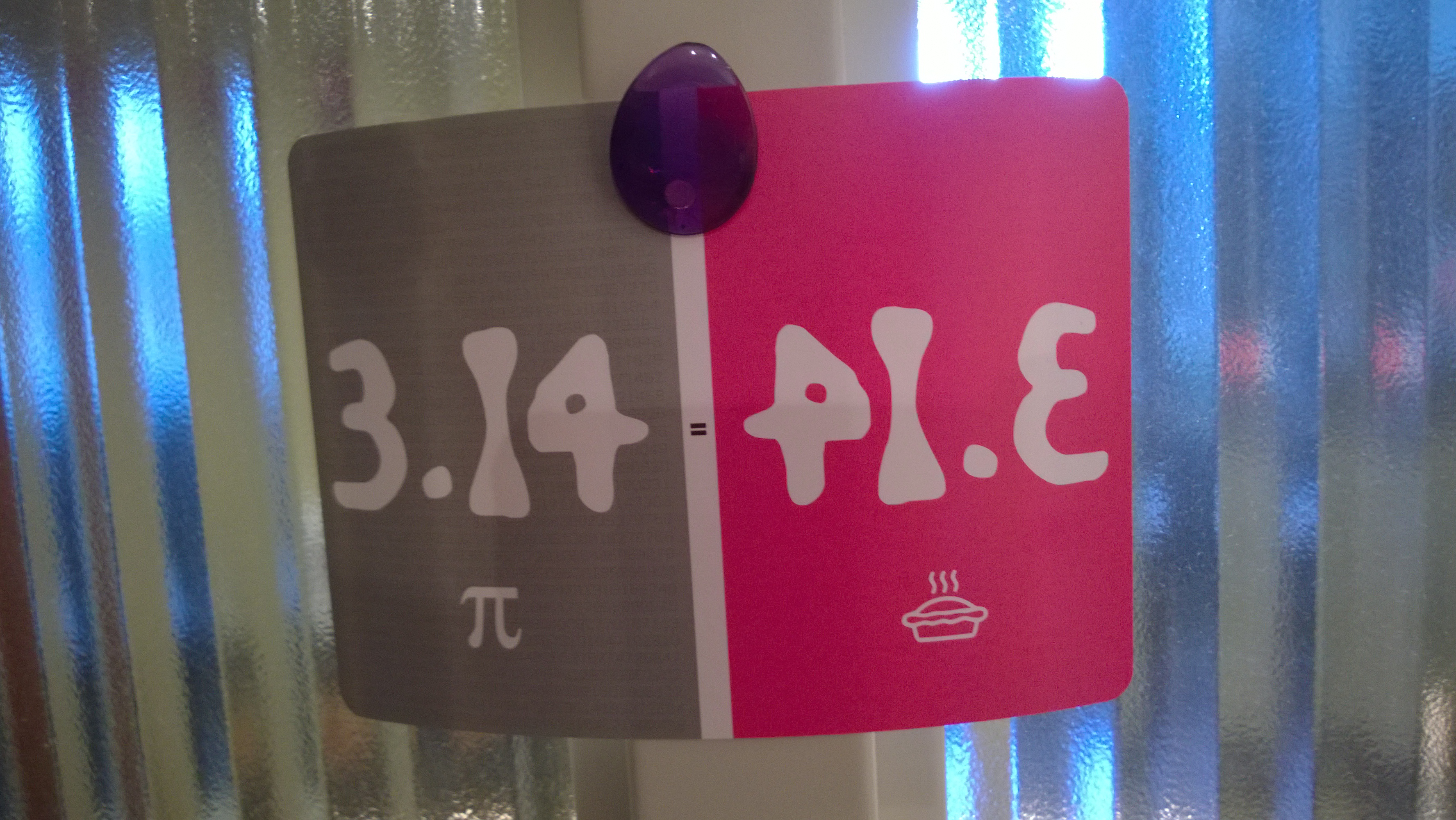 pi in numerals mirrored as pie spelled out