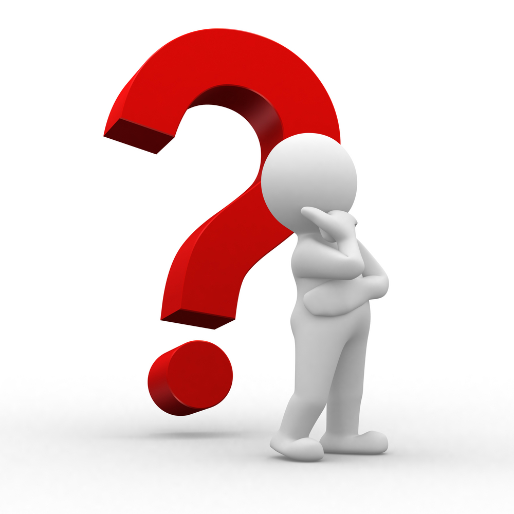 generic figure standing in front of question mark